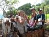 Originele ossewagen die nu als toeristen attractie gebruik wordt in een poging de toerist iets authentieks te laten beleven (symbolische gerelateerde authenticiteit). Dit is een nevenbelbron. Foto 12/Costa Rica
